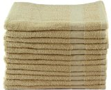 Utopia 24-Inch x 48-Inch Bath/Gym Towels 100% Cotton, Soft & Absorbent 12-Pack, Beige