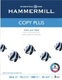 "Hammermill Copy Plus Multipurpose Inkjet & Laser Paper, 8 1/2"" x 11"" Letter, 92 Bright White, 20 lb., 5000 Sheets/Case Carton (105007)"