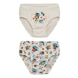WithOrganic Little Boys Organic Cotton Briefs Space Dino (Large(5-6T), Space prints)