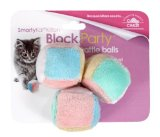 SmartyKat Block Party Cat Toy Kitten Rattle Balls 3 Pack