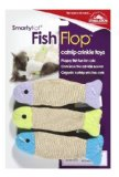 SmartyKat Fish Flop Cat Toy Catnip Crinkle Toys 3 Pack
