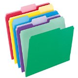 Pendaflex File Folders with InfoPocket, Letter Size, Assorted Colors, 30 per Pack (02086)