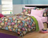 My Room Boho Garden Ultra Soft Microfiber Girls Bedding Comforter Set, Multi-Colored, Full