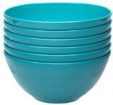 Zak Designs Ella Individual Bowls, Azure, Set of 6