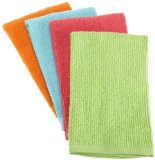 DII 100% Cotton, Machine Washable, Cleaning, Drying, Utility Bar Mop Multi Use Dishtowel, Set of 4, Bright