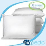 BioPEDIC UltraFresh Anti-bacterial 4-Pack Bed Pillows, Standard Size, White