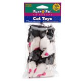 Penn Plax Purr-Pet Bag of Mice Pet Toy