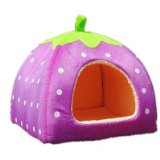 Leegoal Soft Sponge Strawberry Small Cotton Soft Dog Cat Pet Bed House (XL Size)