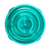 Outward Hound Kyjen  51006 Fun Feeder Slow Feed Interactive Bloat Stop Dog Bowl, Small, Blue