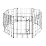 Pet Trex Exercise Playpen for Dogs with High Panel and Gate, 24 x 30""