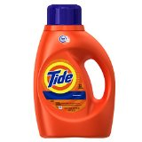 Tide Original Scent HE Turbo Clean Liquid Laundry Detergent, 50 oz, 32 loads (Pack of 2)