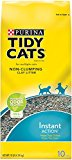 Tidy Cats Cat Litter, Non-Clumping, Instant Action, 10-Pound Bag, Pack of 4