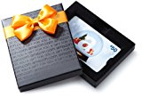 Amazon.com $50 Gift Card in a Black Gift Box (Holiday Globe Card Design)