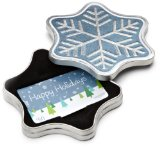Amazon.com $25 Gift Card in a Snowflake Tin (Happy Holidays Card Design)