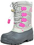 ARCTIV8 KNORTH New Casual Everyday Little Kid/Big Kid Fur Insole Lace/Zip Up Padded Ankle Hiking Outdoor Boots GREY-PINK SIZE 10