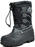 ARCTIV8 KNORTH New Casual Everyday Little Kid/Big Kid Fur Insole Lace/Zip Up Padded Ankle Hiking Outdoor Boots BLACK SIZE 12