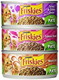 Friskies Wet Cat Food, Classic Pate, 3-Flavor Variety Pack, 5.5-Ounce Can, Pack of 24