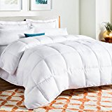 Linenspa White Goose Down Alternative Comforter with Duvet Tabs, Queen