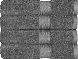 Utopia Towels 700 GSM Cotton 27-Inch-by-54-Inch  Bath Towel Set, Set of 4, Grey