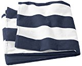 Joe's USA Premium Large Pool and Beach Resort Towels - 11 Colors To Choose From (Navy/White)