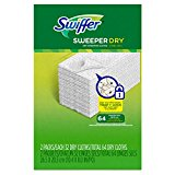 Swiffer Sweeper Dry Sweeping Pad Refills for Hardwood and Floor Mop Cleaner, Unscented, 64 Count