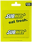 SUBWAY Gift Card $25