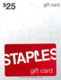 Staples Gift Card $25