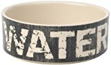PetRageous 2-Cup Water Vintage Pet Bowl, 5-Inch, Black/Natural