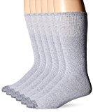 Fruit Of The Loom Men's 6 Pack Reinforced Over The Calf Tube Socks,  Grey, Shoe: 6-12