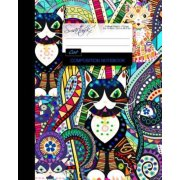 Cat Composition Notebook: College Ruled Writer's Notebook / Journal for School / Teacher / Office / Student [ Perfect Bound * Large * Carnival ]