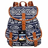Vbiger Canvas Backpack for Women & Girls Boys Casual Book Bag Sports Daypack (Elephant Blue)