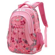 Coofit School Backpack for Girls Flowers Pattern Backpacks for School Cute Bookbag for Teenage Girls/Kids