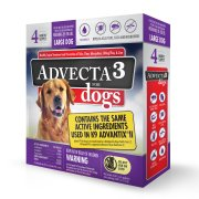 Advecta 3 Flea and Tick Protection for Large Dogs, 22 to 55 Pounds, 4 Month Supply