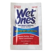 Wet Ones Antibacterial Hand Wipes Fresh Scent Individually Wrapped Single - 24 Count