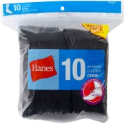 Hanes Womens Cushioned Athletic Crew Socks 10-Pack