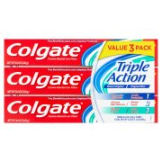 Colgate Triple Action Original Mint Fluoride Toothpaste, 8 oz, 3 ct