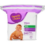 Parent's Choice Refreshing Cucumber Baby Wipes, 240 count