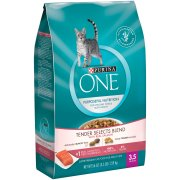 Purina ONE Tender Selects Blend with Real Salmon Cat Food 3.5 lb. Bag