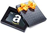Amazon.com $25 Gift Card in a Black Gift Box (Classic Black Card Design)