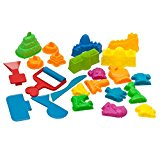 Sand Molds and Tools Kit (23 pcs) – Sand Molding Kit Use w/ Kinetic Sand, Sands Alive, Brookstone Sand, Waba Sand, Moon Sand & All Other Molding Play Sand Brands - (Sand NOT Included)