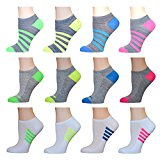 AirStep Women's No Show Athletic Socks - 12 Pack 16119-Multi Sock Size: 9-11 Fits Shoe: 4-10