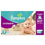 Pampers Cruisers Diapers Giant Pack, Size 3, 128 Count