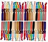 Kenz Laurenz Elastics Ponytail Holder (100 Hair Ties - Solids)