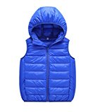 Genda 2Archer Little Girls Lightweight Packable Outdoor Hooded Puffer Down Vest 7 Years