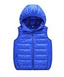 Genda 2Archer Little Girls Lightweight Packable Outdoor Hooded Puffer Down Vest 7 Years