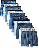 Hanes Red Label Men's Tartan Boxer with Exposed Waistband, Assorted-10 Pack, Large