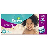 Pampers Cruisers Diapers Size 6, Economy Plus Pack, 104 Count