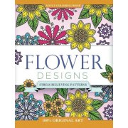 Adult Coloring Book: Flower Designs: Stress Relieving Patterns