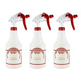 Houseables Spray Bottle Cleaner, Plastic, 32 Oz. Professional Sprayer, Adjustable Nozzle, Pack of 3 …