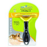 FURminator Long Hair deShedding Tool for Dogs, Large